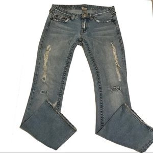 True Religion Big Rig Distressed Jeans Size 29